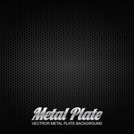diamond shaped: vector metal plate 4