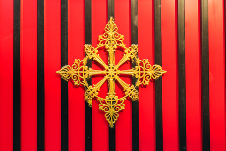 octogonal: octogonal de oro Foto de archivo