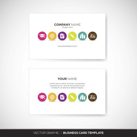 name: Business Card Template Illustration