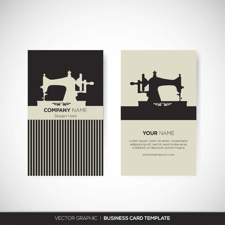 tailor: Business Card Template Illustration