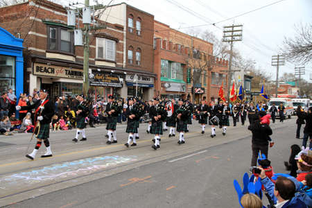 The annual Easter Parade is attended by about 50,000 Torontonians Stock Photo - 13353396