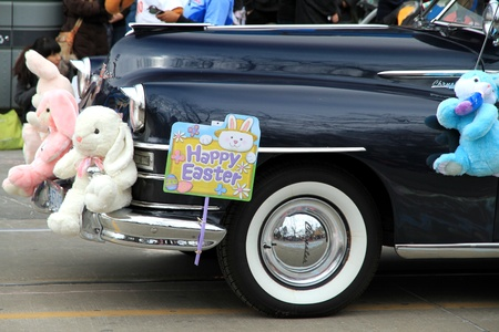 An old Cadillac during the Easter Parade 2012 in Toronto Editorial