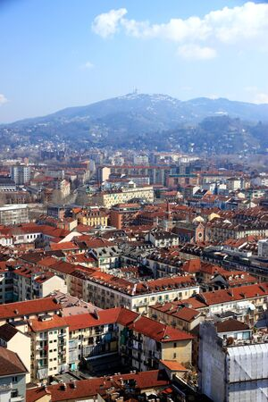 A view of Turin, Italy, from the Mole Antonelliana