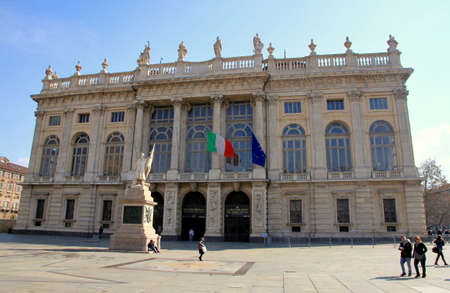 A view of Palazzo Madama in Turin, Italy
