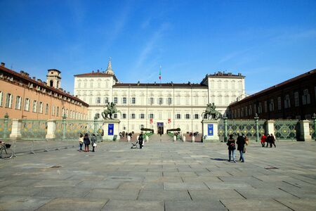 reale: The exterior of the Palazzo Reale in Turin, Italy