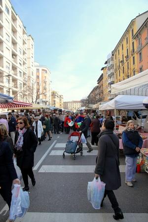 A street market in Milan, Italy Stock Photo - 13558964