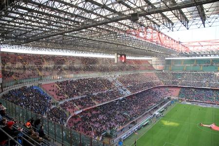 The San Siro stadium during an AC Milan football game Editorial