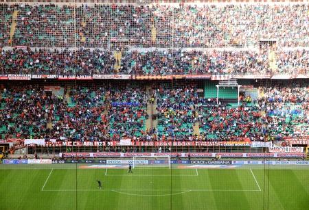 A San Siro stadion alatt AC Milan focimeccsen Sajtókép
