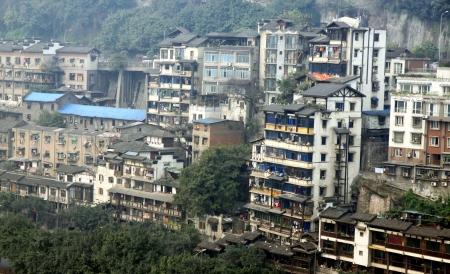 yangtze: Apartment building along the Yangtze River, in Chongqing