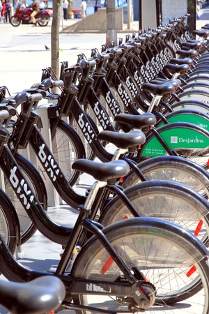 Bixi is a public bicycle sharing system developed by the Public Bike System Company