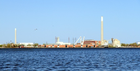 An industrial area on the Lake Ontario