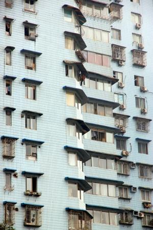 Chongqing, China, March 18, 2012 - A Chinese residential building in Chongqing, China