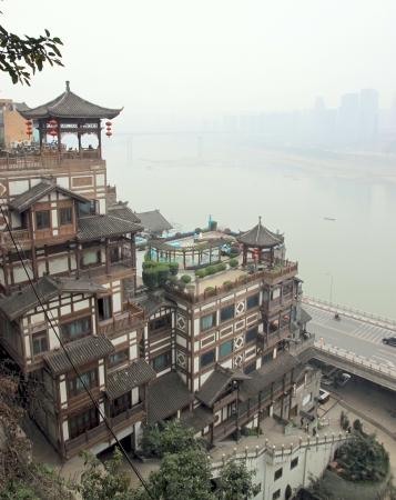 Chongqing, China, March 18, 2012 - An old building in Chongqing, China