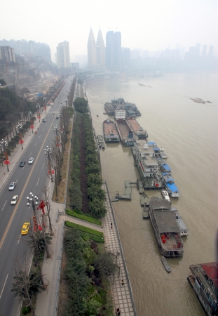 Chongqing, China, March 18, 2012 - A view of the city of Chongqing and the Yangtze river in China.