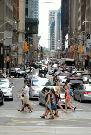 Toronto, Canada, May 27, 2012 - A view of the traffic conditions in Downtown Toronto Editorial