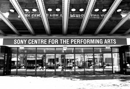 Toronto, Canada, January 8, 2012 - The Sony Centre for the Performing Arts entrance