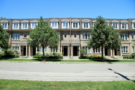Toronto, Canada, June 13, 2012 - Townhouses in the North York area in Toronto