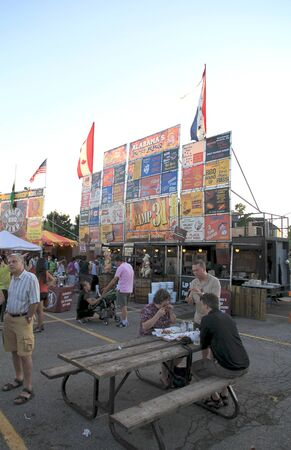Toronto, Canada, July 7, 2012 - A barbecue stand at a ribfest on Canada Stock Photo - 14581524