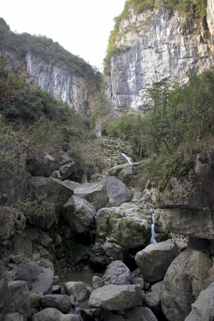 national fruit of china: Wulong, China, March 24, 2012 - A view of the Wulong Karst area in China