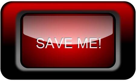 help me: Save Me Button Stock Photo