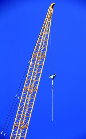 concrete commercial block: A construction crane in Toronto Stock Photo
