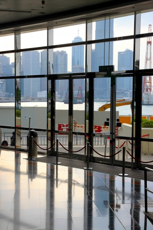 Hong Kong, China, April 1, 2012 - A view of the interior of the HKCEC in Hong Kong