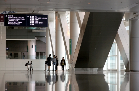 Hong Kong, China, April 1, 2012 - A view of the interior of the HKCEC in Hong Kong Editorial