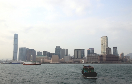 A view of Downtown Hong Kong from the bay