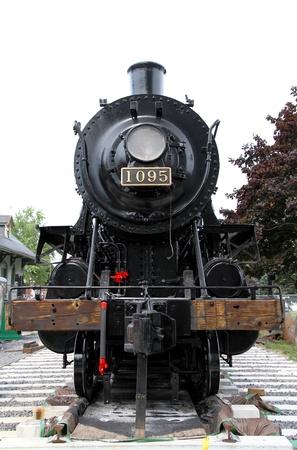 Kingston, Canada, September 7, 2012 - An old locomotive in Kingston, Ontario