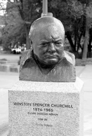 statesman: Quebec City, Canada, September 10, 2012 - A Churchill statue in Quebec City