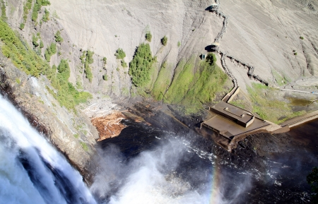 A view of the Montmorency Falls in Quebec City photo