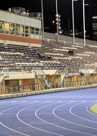 Toronto, Canada, September 29, 2012 - The Varsity Stadium in Toronto during night time