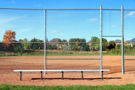 suburban: A suburban baseball diamond outside Toronto Stock Photo