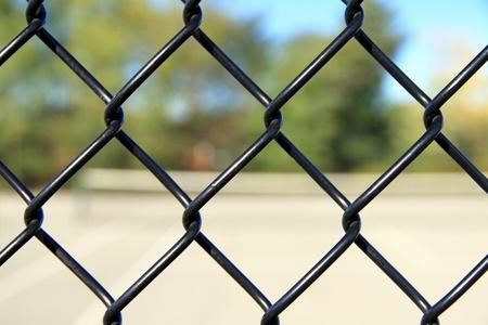 property: A fence confining a property