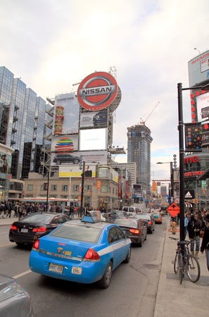 Toronto, Canada, November 23, 2012 - A view of the traffic conditions in Toronto during the rush hour