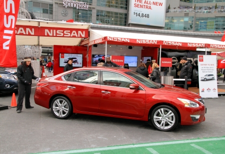 nissan: Toronto, Canada, November 23, 2012 - A street event promoting a new Nissan Editorial