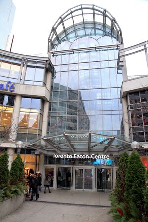 One of the entrance of the Eaton Center in Toronto