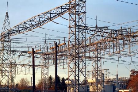 Power lines in Toronto Stock Photo - 17127559
