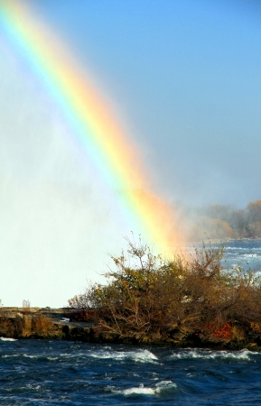 A rainbow over the Niagara Falls photo