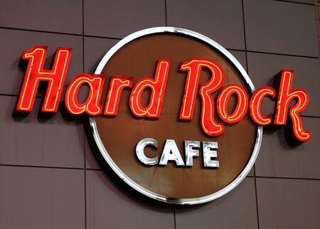 Toronto, Canada, November 11, 2012 - A Hard Rock Cafe neon sign in Toronto