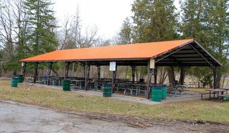 ピクニックの小屋 写真素材
