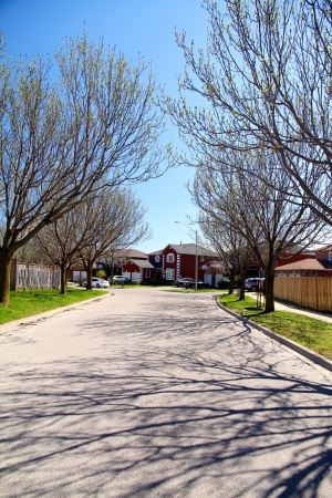 suburban: Suburban Street Stock Photo