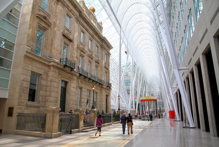 Toronto, Canada, June 8, 2013 - A view of the Allen Lambert Galleria in Downtown Toronto