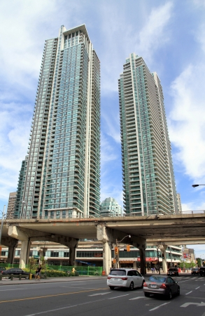 Toronto, Canada, June 8, 2013 - New condo buildings on the Lake Ontario Stock Photo - 23059316