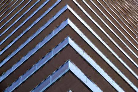 近代的なマンションの建物の詳細