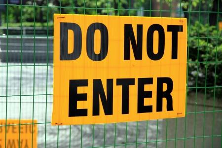 Do Not Enter sign Stock Photo - 23182775