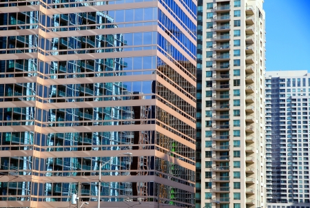 Modern architecture and office buildings in Toronto