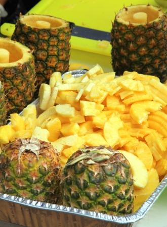 diced: Diced Pineapple Stock Photo