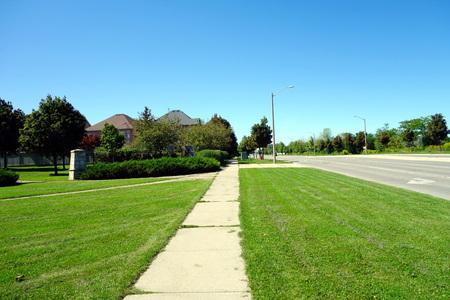 suburban: Green suburban area outside Toronto Stock Photo