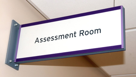 An assessment room in a hospital